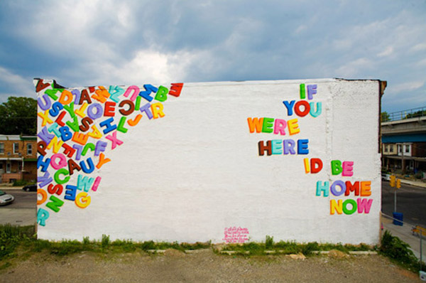 "A mural near my house; part of the ""Love Letter"" series in West Philly"