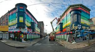 Philly Painting: Mural Arts' largest mural to date, completely repainting an entire block on Germantown Ave