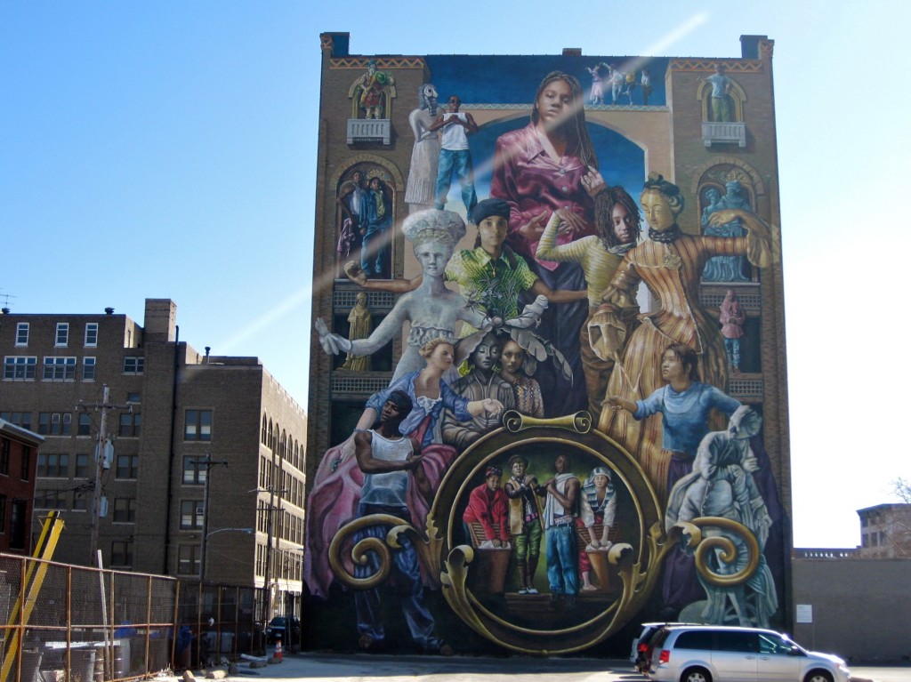 """Common Threads"": The tallest mural in Philly and one that I pass everyday on Broad and Spring Garden on the way to my internship"