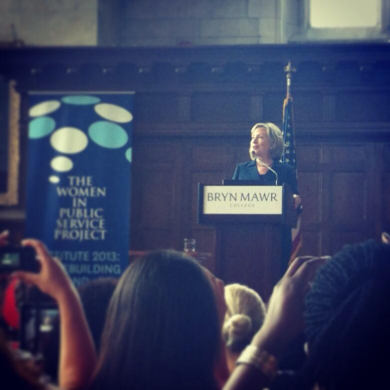 Hilary Clinton at Bryn Mawr (photo credit: Hannah Smith '14)