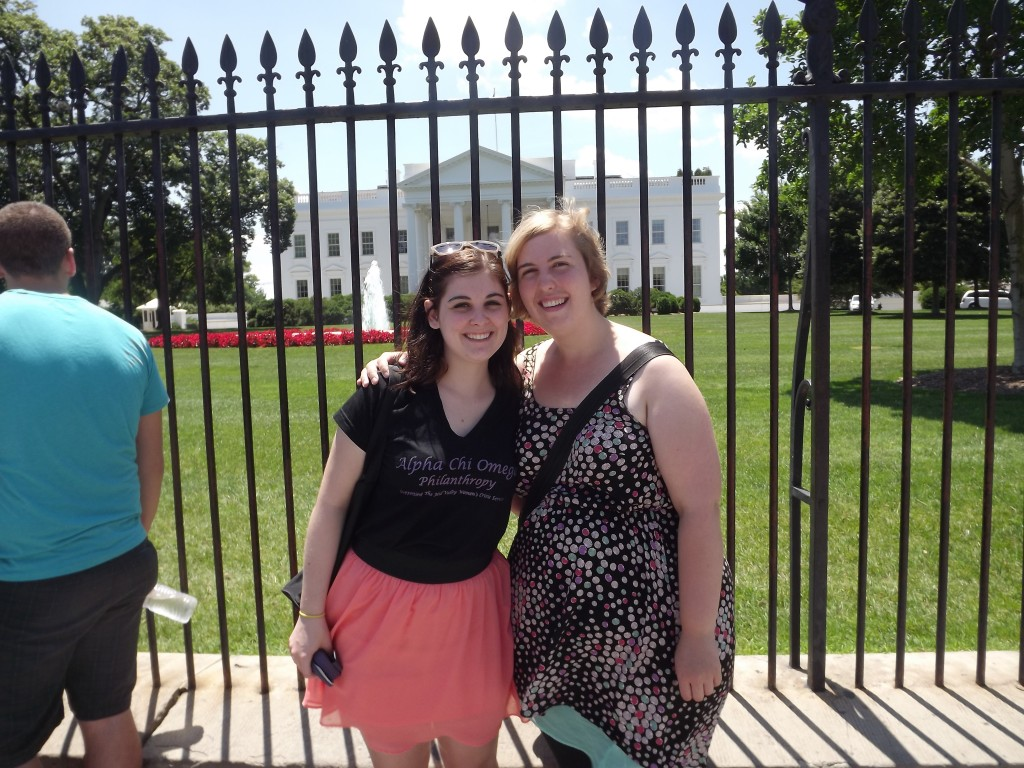 Visiting my friend Colleen in DC
