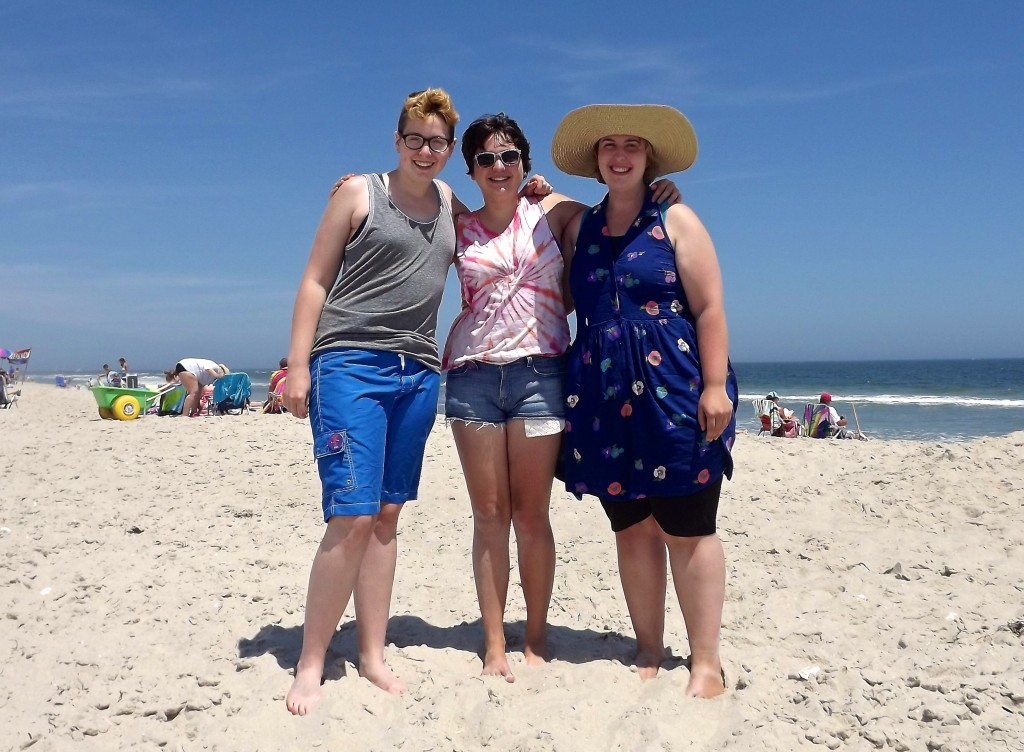 Paige, Elizabeth, and me at the Jersey Shore