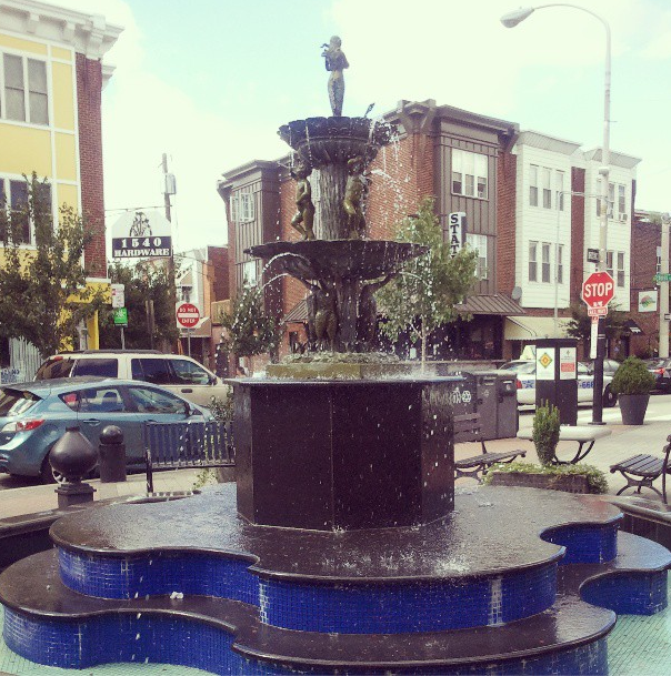 Singing Fountain in Passyunk Square in South Philly